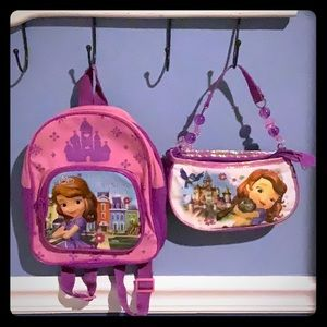 Backpack and purse set